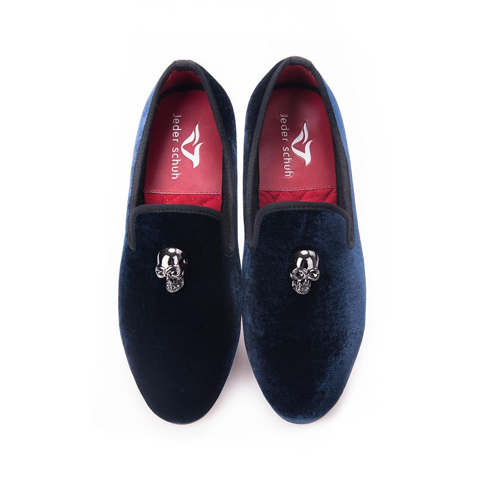 Hommes Partie 2017 deep 17free Blue Mode Appartements Mariage Et Chaussures Black De Taille Qualité Gratuite Shoes Shoes Velours Boucle Haute Us6 Mocassins Crâne fISwIqC