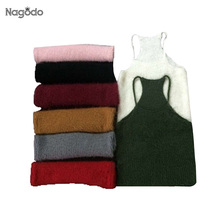Crop Top 2016 New Simple 8 Colors Rabbit wool Sleeveless Tank Top Short Sweater Knitting Vest womens camisole tops