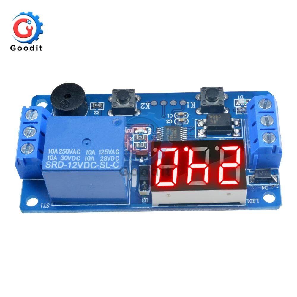 Nitrip 12V-24V Retardateur de cycle de signal de signal dimpulsion double carte de commande MOS