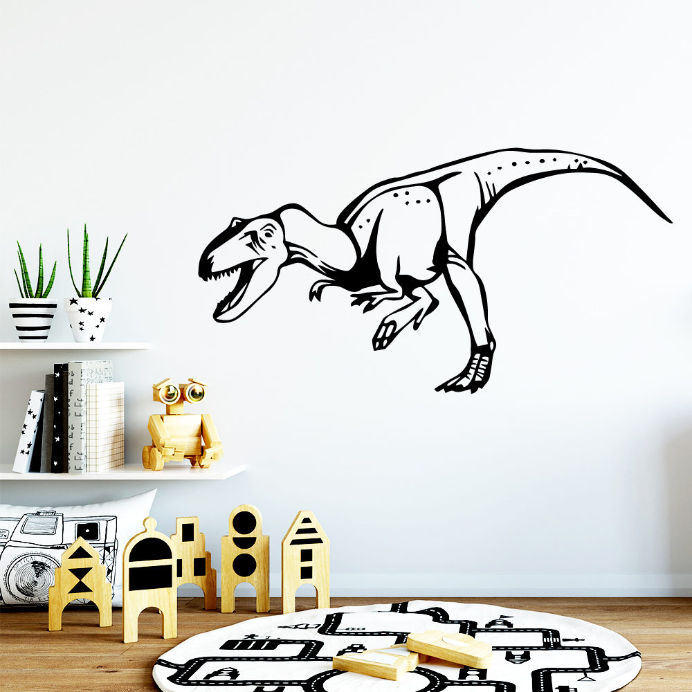 Hot dinosaur Nordic Style Home Decorations Pvc Wall Decal Decor Living Room Removable Vinyl Bedroom Mural adesivo de parede in Wall Stickers from Home Garden