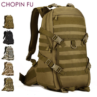 40L Tactical Military Molle 1000D Backpack Camping Hiking Assault Bag Rucksack Black A3161