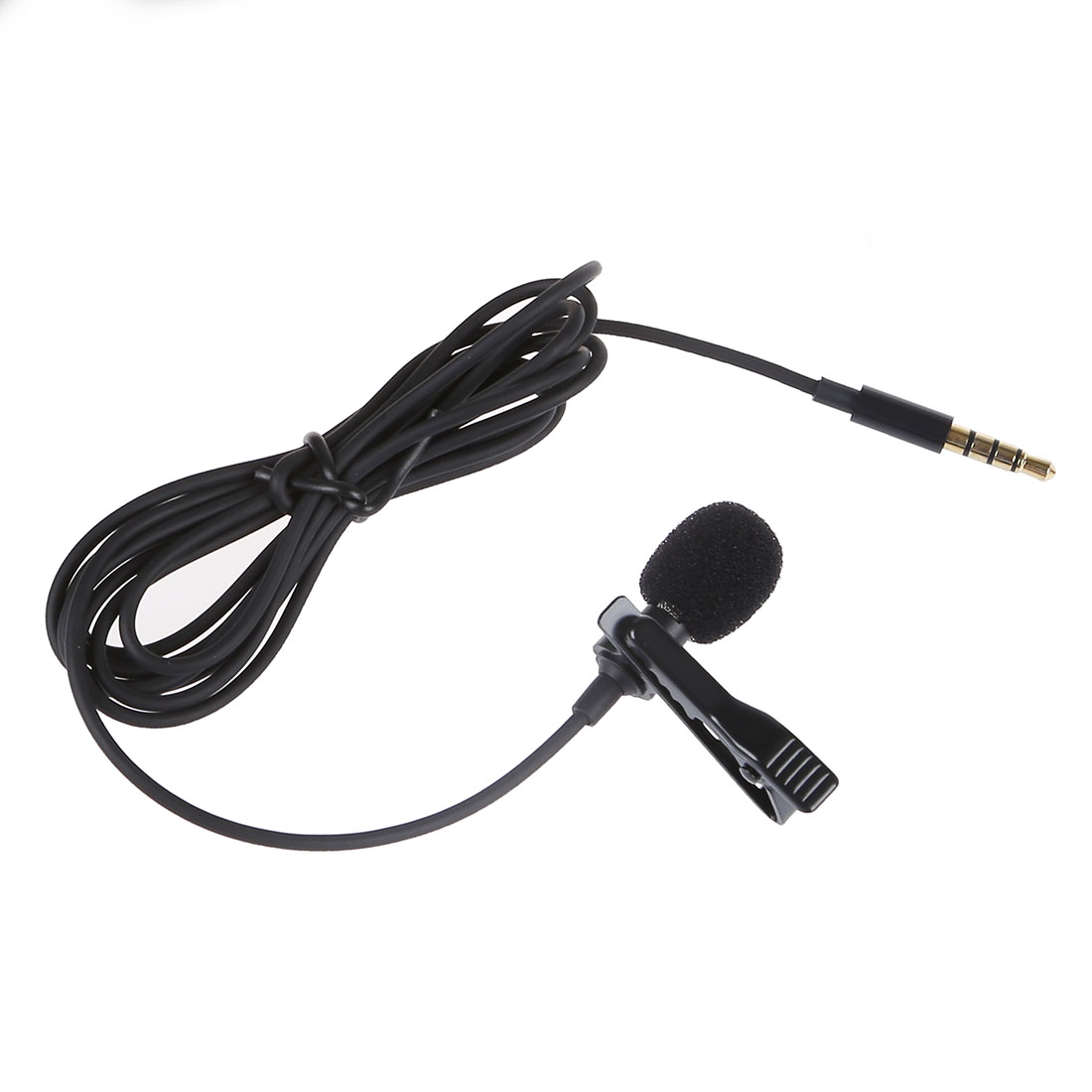Cravate Revers Clip-sur Microphone Omnidirectionnel TRRS 3.5mm Jack Mains Libres 3.28ft Condenseur Mini Enregistrement Mic pour Apple iPhone
