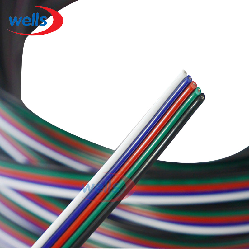 2pin wire 3pin wire 4Pin 5pin Extension wire 2m/5m/10M ,22 awg wire, RGB+White Wire Connector Cable For 3528 5050 LED Strip 5m 10m 20m 50m 2pin single 3pin 2811rgb 5pin rgbw extension 4pin rgb white rgb black wires connector cable for rgb led strip