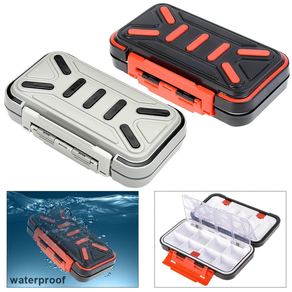 Fishing Tackle Box Double layer Waterproof 16/24 Compartments Lures Hooks Accessories Storage