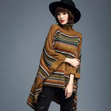 HIGH QUALITY Autumn And Winter Women Sweater Pure Color Turtleneck Sweater Loose  Sleeve Sweater