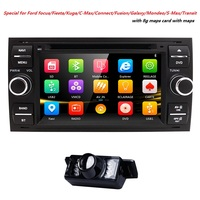 Hizpo Car DVD Player 2 din GPS Radio For Ford Fiesta 2005 Focus 4 kug C Max Mondeo Galaxy Fusion transit Connect Audio GPS BT3G