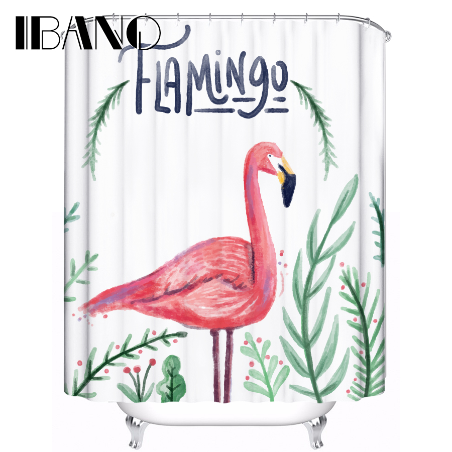 Flamingos Shower Curtain Youtube Customized Waterproof Polyester Fabric For Bathroom With 12 Hooks