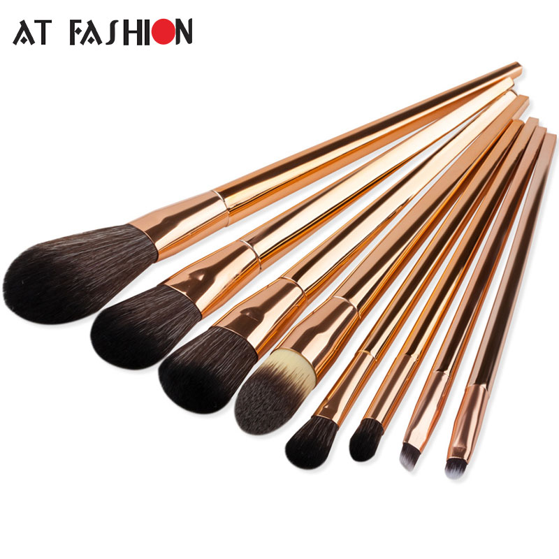 Professional Makeup Brush Set 8pcs High Quality Rose Gold Handle Foundation Blush Powder Concealer Make Up Brushes Tools Kit New пальто grand style grand style gr025ewjxf49