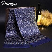 DANKEYISI Шелковый шейный шарф мужской длинный хлопковый Мужской базовый шарф женский Бандана шейный платок деловые шарфы на каждый день