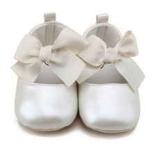 Baby Kid Girl Princess Casual Shoes PU Soft Flats Bow Baby F