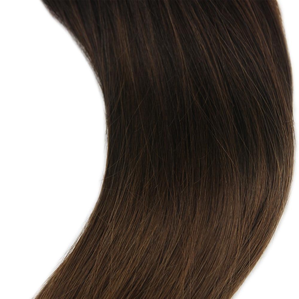 Treu Voller Glanz Angepasst Auftrag 80 Stücke 200g Farbe # 1b Verblassen Zu #4 Ombre Extensions 100% Remy Band In Haar Extensions Kann Wiederholt Umgeformt Werden. Haarverlängerungen