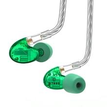 NICEHCK DT600 6BA ไดรฟ์หูฟัง 6 Balanced Armature ที่ถอดออกได้ถอดสาย MMCX HIFI Monitor หูฟัง DT500 DT300