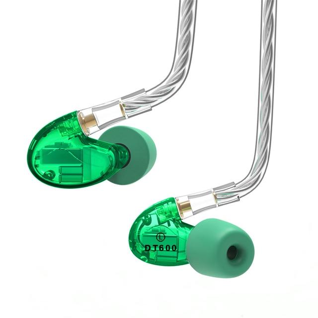 NICEHCK DT600 6BA unité dentraînement dans loreille écouteur 6 Armature équilibrée détachable détacher MMCX câble HIFI moniteur écouteur DT500 DT300