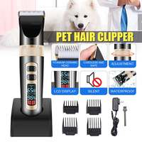 Professional Pet Dog Trimmers Electrical Hair Clippers Rechargeable Cat Pet Shavers Haircut with LCD Intelligent Display