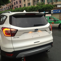 Car ABS Plastic Unpainted Color Rear Trunk Boot Tail Wing Lip Spoiler For Ford Escape Kuga 2013 2014 2015 2016 2017