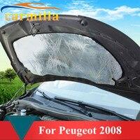 Aluminum Foil Cloth Car Front Hood Soundproof Cotton Noise Resistance Selection For Peugeot 2008 Year 2013