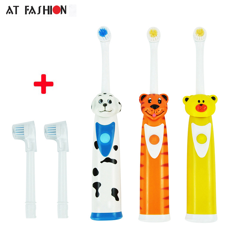 Teeth Care Children Electric Toothbrush Cartoon Pattern Kids Waterproof Soft Bristle Toothbrush Professional Kids Oral Hygiene ultra soft children kids cartoon toothbrush dental health massage 1 replaceable head outdoor travel silicone retractable folding