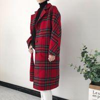 Shuchan Casacas Para Mujer Invierno 2018 двусторонний одежда плед корейской моды 90% шерстяная теплая Однобортный Для женщин пальто