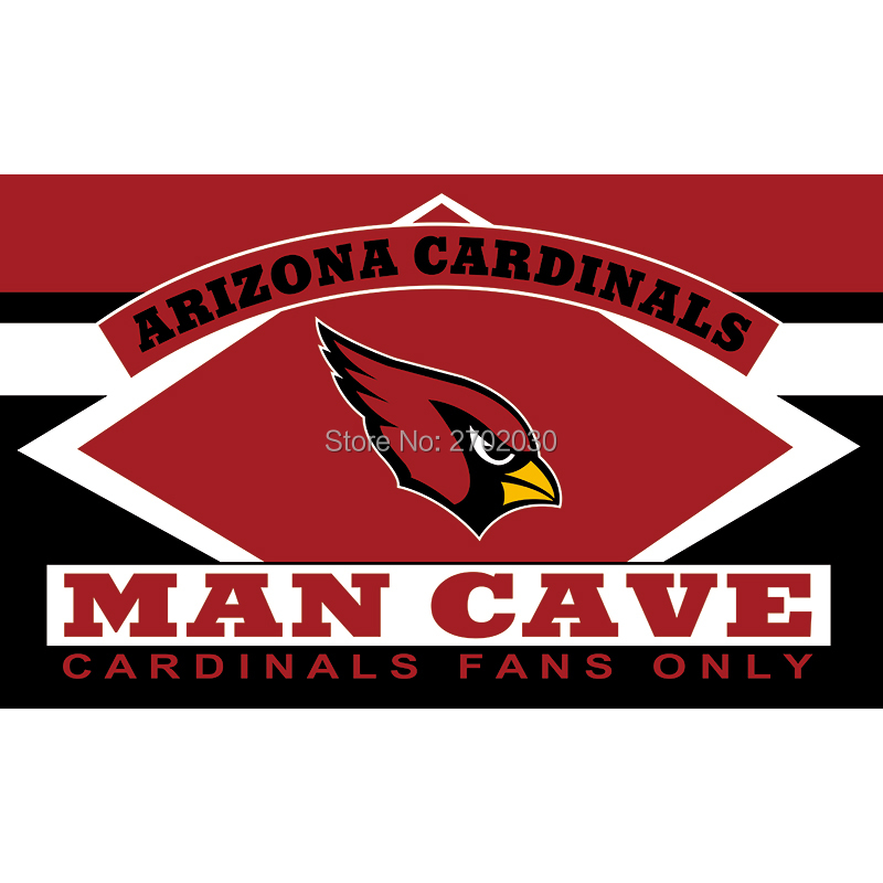 Arizona Cardinals Fans Only Flag MAN CAVE Banner Flag World Series Football Team 3ft X 5ft Banners Arizona Cardinals Flag