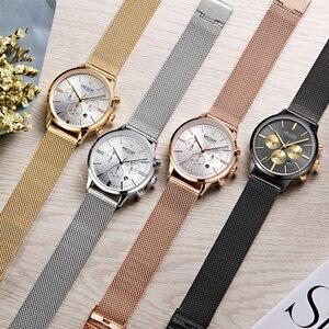 Image 2 - MEGIR Chronograph Luxury Women Bracelet Watches Relogio Feminino Fashion Quartz Lovers Wrist Watch Clock Ladies Girls Gift 2011
