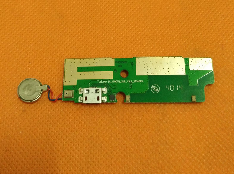 Used Original USB Plug Charge Board For Takee 1 MTK6592 Octa Core 5.5 FHD 1920X1080 Free Shipping
