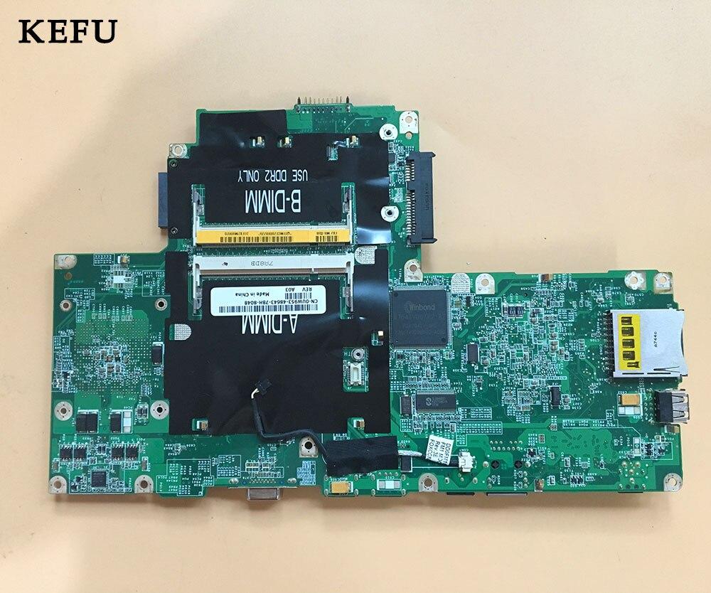 KEFU CN 0UW953 0UW953 UW953 For Dell V1000 1501 Laptop Motherboard 100 working