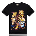 Punk Black Men T Shirt 100% Cotton O-neck 3d Mens Big size 3XL New Fashion T-Shirt Humen Lion Brand Casual Men's Summer Shirts