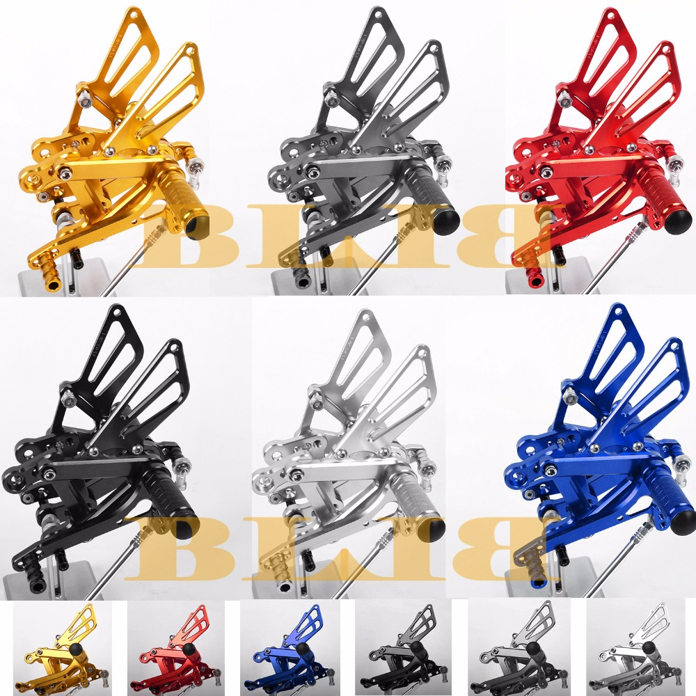 8 Colors For Kawasaki ZX6R ZX636 1998 2002 CNC Adjustable Rearsets Rear Set Motorcycle Footrest Foot