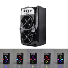 DOITOP Wireless Bluetooth Bass Subwoofer LED light Speaker Outdoor Speakers USB Charging Support TF Card Stereo Dual Loudspeaker