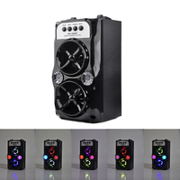 DOITOP Wireless Bluetooth Bass Subwoofer LED Light Speaker Outdoor Speakers USB Charging Support TF Card Stereo