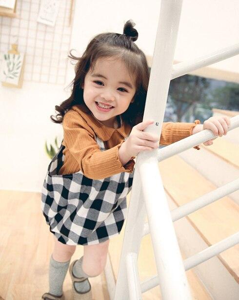 J020 Kleid freies verschiffen Volle Hülse Kleid Cotton Geburtstag Lässig Solide Baby Mädchen Kleidung Drapierte Princes Ballkleid
