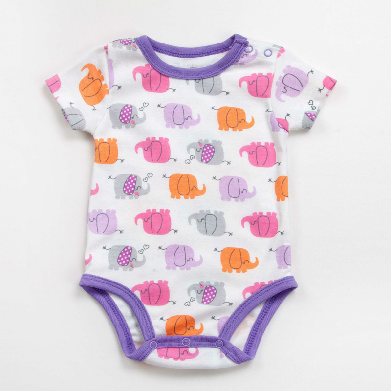 5 sztuk / partia Dziecko pajacyki z krótkim rękawem baby boy - Odzież dla niemowląt - Zdjęcie 6