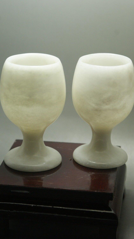 Vynikající čínské jades pohár krásné přírodní barvy ručně vyráběné víno pohár
