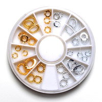 Nu TATY Mixed Designs Circle Rhinestones DIY Nail Arts 3D Nail Arts Salon Decorations Nail Studs