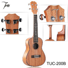 TOM  guitar ukulele  TUC-200B 23 inch Rosewood Carved Concert  Ukulele Small Hawaiian Guitar+Bag