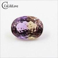 Блестящий овальной огранки Природный Аметрин свободные драгоценный камень 13 мм * мм 18 мм 12 ct Настоящее Природный Аметрин свободные камень GIC
