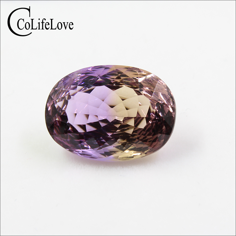 Brilhante oval cut natural Ametrine gemstone solta 13mm * mm 12 18 ct real natural Ametrine pedra solta GIC certificado