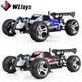 Wltoys a959 rc de alta qualidade carro 50 km/h 1/18 2.4gh 4wd off-road buggy controle remoto toys natal aniversário presente para as crianças