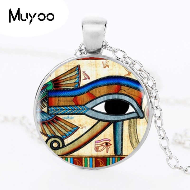 โบราณอียิปต์ Egyptian Eye of Horus จี้ Choker สร้อยคอเงินสีสำหรับชุดผู้หญิงอุปกรณ์เสริม HZ1