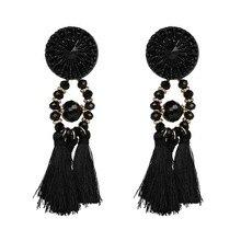 Women Ethnic Vintage Long Dangle Earrings