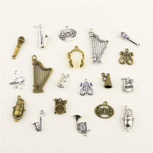 Fashion Jewelry Making Musical Instrument Horn Microphone Findings Components Mix Pendant