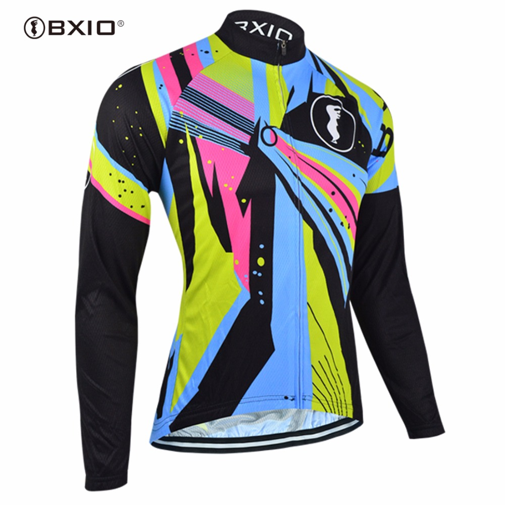 BXIO Winter Bike Jerseys Warm Long Sleeve Cycling Clothing Pro Team Bicycle Clothes Invierno Roupa Ciclismo