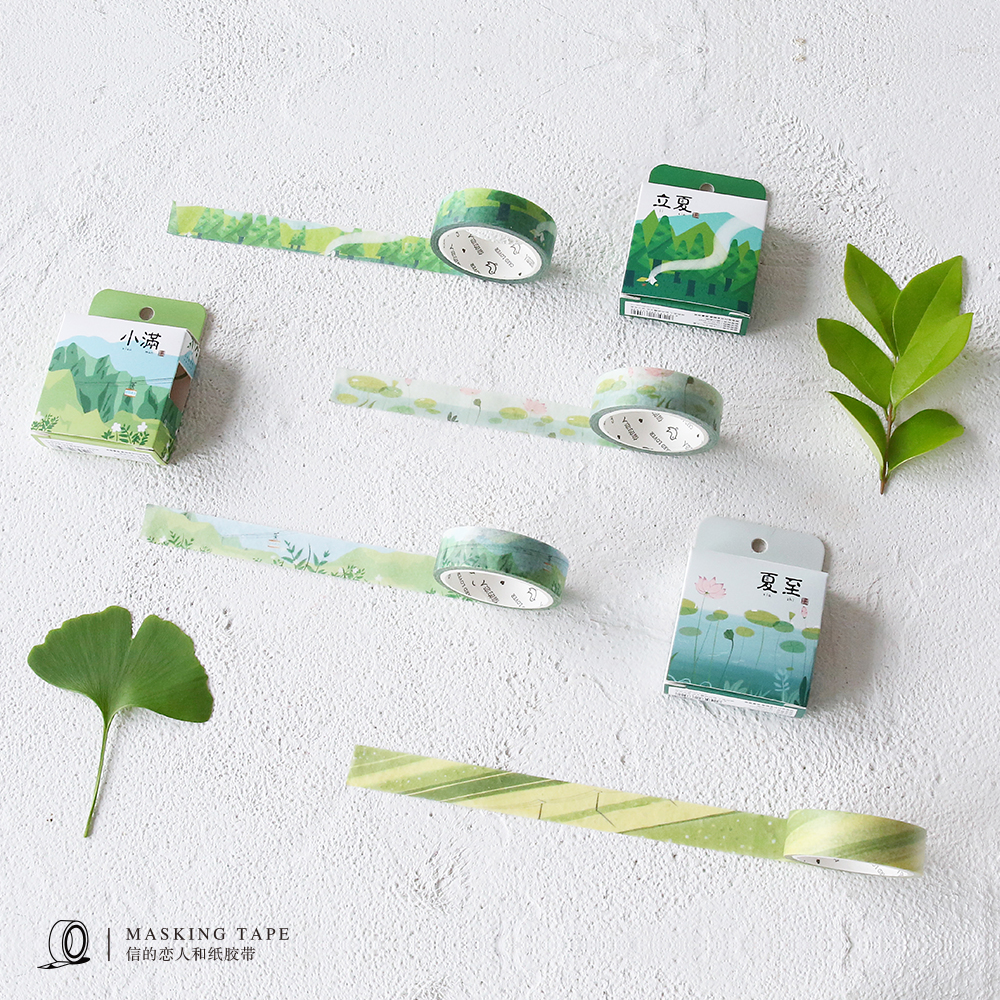 Beautiful Twenty-four Solar Terms Series Washi Tape Four Seasons From Spring to Winter Masking Paper Tape DIY Decoration healthy and beautiful from head to toe