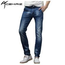 ACEMIRIZ Men Trousers Jeans High Quality Simple Elastic Pants Skinny Classic Slim 2017 Brand Fashion Denim Jeans XXZ-FL956