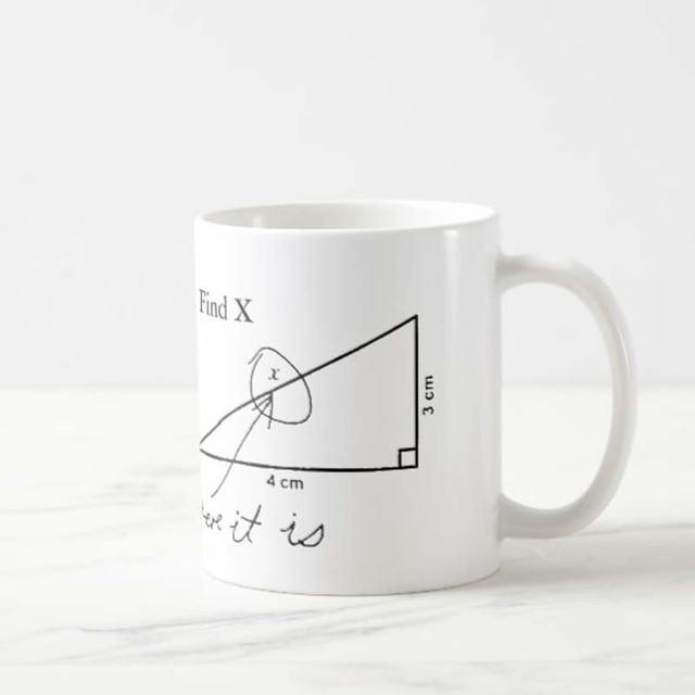 Encontrar X engraçado Teste de Matemática Professor Caneca de Café Do Copo de Chá Doce Engraçado Canecas Copos para o Namorado Namorada Colega Novidade Dos Namorados fam