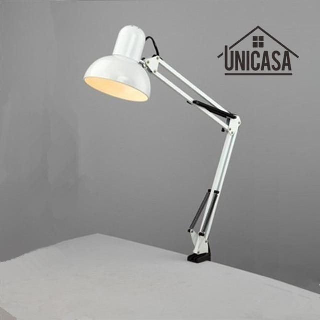 Adjustable clip table lights bedside desktop table lamp bedroom white desk lamps office light libraly porch