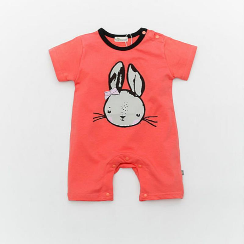 Baby Rompers 2017 New Summer Style Baby Boys Girls Clothes Cotton Cartoon Pattern Newborn Clothes 1-12months Baby Jumpsuits cotton baby rompers set newborn clothes baby clothing boys girls cartoon jumpsuits long sleeve overalls coveralls autumn winter