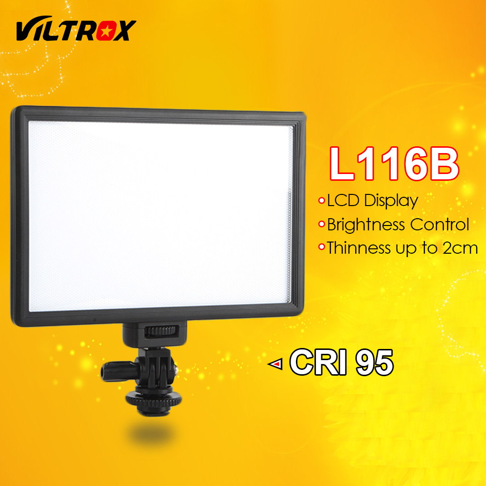 Viltrox L116B Camera Super Slim LCD Display Dimmable Studio LED Video Light Lamp Panel for Camera DV Camcorder DSLR Photo стоимость