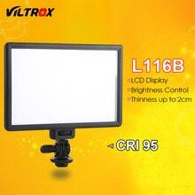 Viltrox l116b камера супер тонкий жк-дисплей с регулируемой яркостью studio светодиодные лампы видео лампы панель для камер dv видеокамеры dslr фото