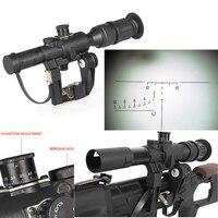 1pc Hunting Optics Tactical SVD Dragunov 4x26 Red Illuminated Scope For Airsoft Gun Camping Hunting Shooting